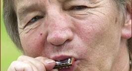 Mike Jackson with mini harmonica