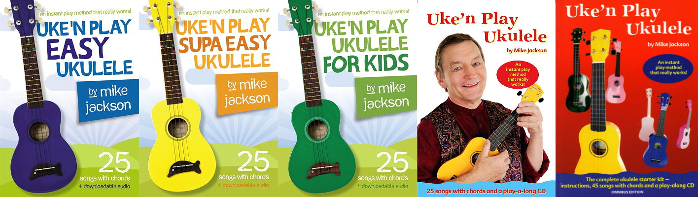 Mike Jackson Learn Ukulele Books