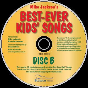Best-Ever Kids' Songs Disc-B